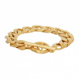 All Blues Gold Polished Moto Bracelet 101609
