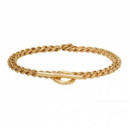 All Blues Gold Polished Rope Bracelet 101518