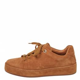 Loro Piana Light Brown Suede Low Top Nuages Sneakers Size 37 380026