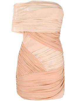 David Koma двухцветное платье мини с драпировкой R21DK36D