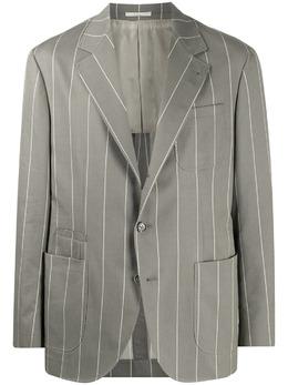 Brunello Cucinelli полосатый пиджак узкого кроя MD4947BNDC008