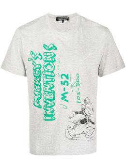 Comme Des Garcons Homme Deux футболка с принтом Mickey's Inventions DFT012