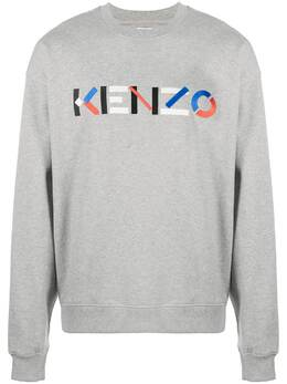 Kenzo толстовка с вышитым логотипом FB55SW5234MO