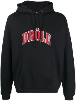 Drole De Monsieur худи с фактурным логотипом SS21HO002BL