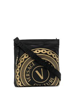 Versace Jeans Couture сумка на молнии с тисненым логотипом E1YWAB8671889