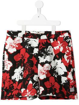 No.21 Kids шорты с цветочным принтом N21045N0135