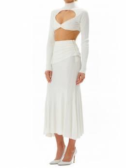 Платье Миди Из Трикотажа Herve Leger 73IM14005-QUxBQkFTVEVSIDkwMg2