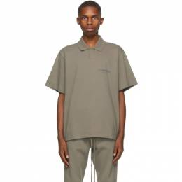 Essentials Taupe Short Sleeve Polo 125HO202023F