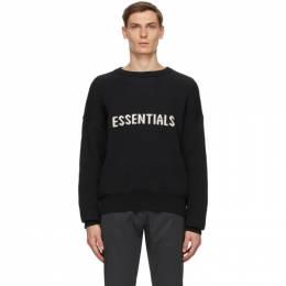 Essentials Black Logo Sweater 192BT202050F