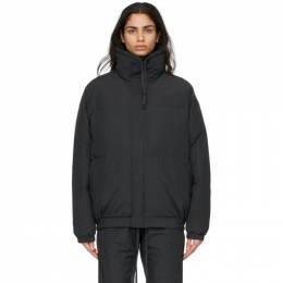 Essentials Black Nylon Puffer Jacket 202HO202010F