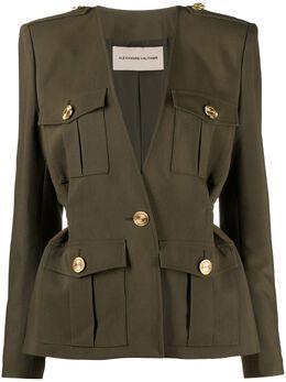 Alexandre Vauthier пиджак с V-образным вырезом и карманами 211JA1350