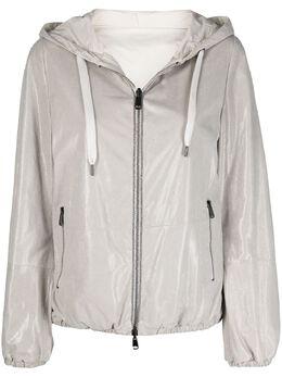 Brunello Cucinelli куртка на молнии с капюшоном MPETA2080C6280