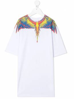 Marcelo Burlon Kids Of Milan платье-футболка с принтом Wings 41500010