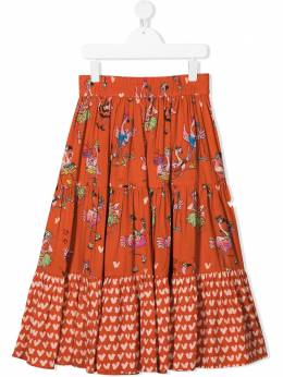 Stella McCartney Kids TEEN multi-print flared skirt 602740SQK84
