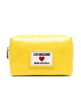 Love Moschino косметичка из искусственной кожи с нашивкой-логотипом JC5305PP1CLC1