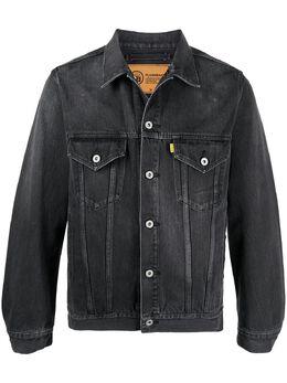 Doublet джинсовая куртка Flashback с принтом 21SS06BL115