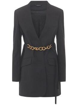 Пиджак Из Шерсти С Поясом Givenchy 73IA7M002-MDAx0