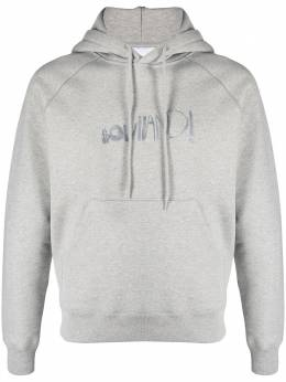 Soulland Pencil logo-print hoodie 110481067GREYMELANGE