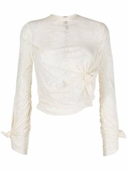 Rokh кружевная блузка с драпировкой R0CA120JP