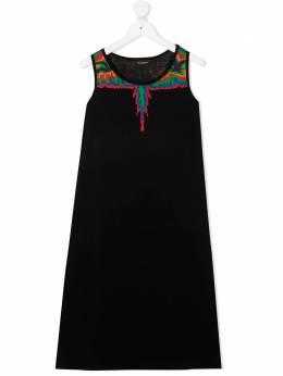 Marcelo Burlon Kids Of Milan платье без рукавов с графичным принтом MB41550010