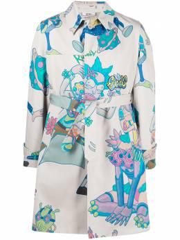 GCDS x Rick & Morty trench coat RM21M040500