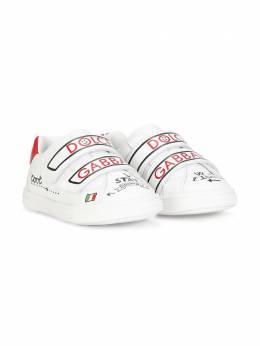 Dolce & Gabbana Kids logo-print touch-strap sneakers DN0157A6C93
