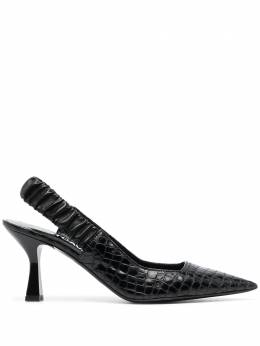 Just Cavalli туфли с ремешком на пятке и тиснением под крокодила S09WL0093P3937