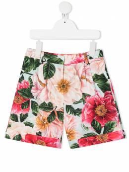 Dolce & Gabbana Kids шорты с цветочным принтом L52Q51HS5H5