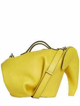 Elephant Leather & Cotton Large Bag Loewe 73I3E8085-MTYxNQ2
