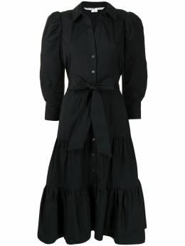 Veronica Beard ярусное платье миди Zeila 2012SCPD028