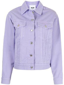 MSGM джинсовая куртка с логотипом 3041MDH41TX217282