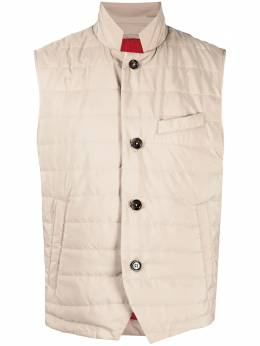 Eleventy padded button gilet C70GILC10TES0C192