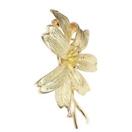 Tiffany & Co. 18K Yellow Gold Diamond Lily Brooch 379473