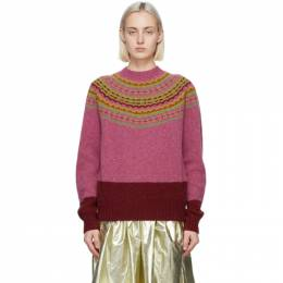 Molly Goddard Pink and Red Benny Sweater MGAW20-77