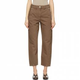 Lemaire SSENSE Exclusive Brown Twisted Jeans W 211 PA220 LD034