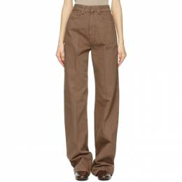Lemaire SSENSE Exclusive Brown Garment-Dyed Jeans W 211 PA258 LD034