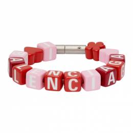 Balenciaga Pink and Red Toy Bracelet 649427 TZX4S