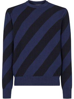 Dolce&Gabbana джемпер в диагональную полоску с круглым вырезом GXD56TJBMF9