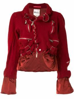 Comme Des Garcons Noir Kei Ninomiya куртка асимметричного кроя с оборками 3FJ007051