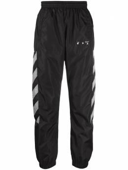 Off-White спортивные брюки с логотипом OMCJ001R21FAB0011006