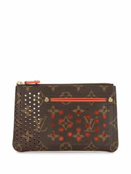 Louis Vuitton кошелек Pochette 2006-го года с монограммой и перфорацией M95187
