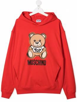 Moschino Kids худи с принтом Teddy Bear HNF03XLDA13