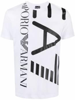 Ea7 футболка с круглым вырезом и логотипом 3KPT07PJA2Z