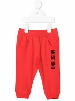 Moschino Kids спортивные брюки с логотипом MRP023LDA27
