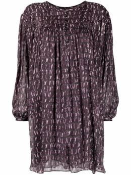 Isabel Marant Etoile платье с пышными рукавами и узором RO193021P029E