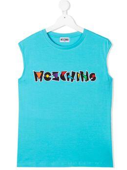 Moschino Kids топ без рукавов с логотипом HUM033LBA18
