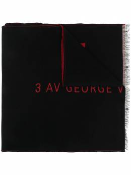 Givenchy logo-embroidered fringed scarf BP001YP0AH