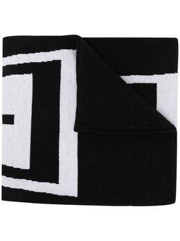 Givenchy шарф вязки интарсия с логотипом BP002GP0BL