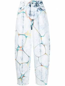 Stella McCartney marbled-print straight-leg jeans 602559SOH24