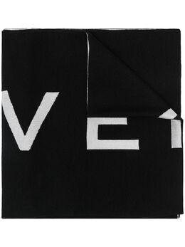 Givenchy двухцветный шарф с логотипом BP002GG02L